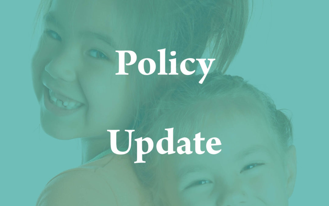 August 2020 Child and Family Policy Update