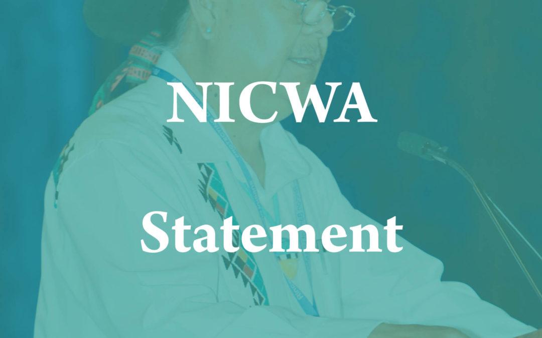 NICWA Statement